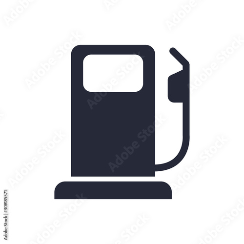 Foto fuel station service flat icon