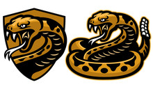 Rattle Snake Mascot In Set