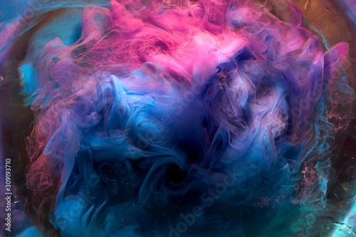 Abstract multicolored outer space background Wallpaper Mural