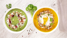 Broccoli Soup And Pumpkin Soup...
