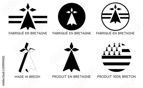 Fotografía Fabriqué en Bretagne, Logo breton, breizh,