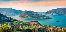 Panoramic Summer View Of Iseo ...