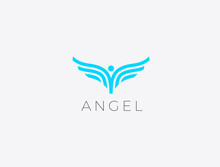 Angel Wings. Abstract Flying M...