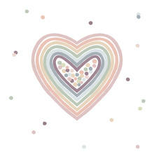 Cute Decorative Rainbow Heart ...