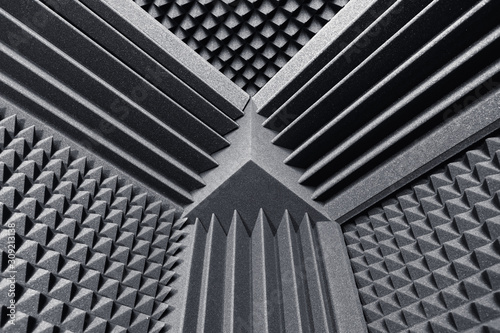 acoustic foam absorber and bass traps for sound dampering background Wallpaper Mural
