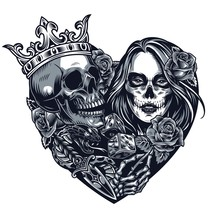 Chicano Style Tattoo Template