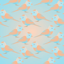 Seamless Background With Bird Pattern For Decorating Baby Products