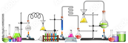 Fotografia Science equipments on white background
