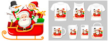 Christmas Theme With Santa On Many Products