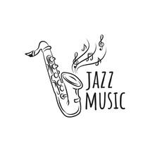 International Jazz Day Vector Illustration With Saxophone
