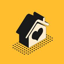 Isometric House With Heart Sha...