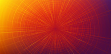 Orange Hyperspace Speed Motion On Blue Background,warp And Expanding Movement Concept,vector Illustration.