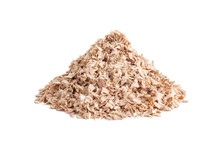 Pile Of Sawdust On A White Background Isolated