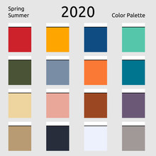 Spring Summer 2020 Colors Pale...