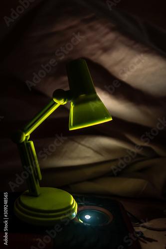 Fotomural bedside lamp abajur