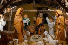 Nativity Scene In Brno City Christmas Market, Czech Republic