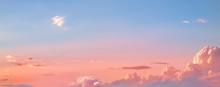 Beautiful Sunset Sky. Dramatic...