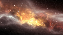 Glowing Huge Nebula With Young...