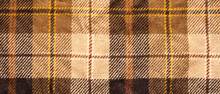 Brown Checked Fabric. Scottish...