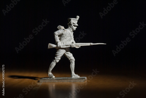 Napoleon era soldier standing with rifle and bayonet Wallpaper Mural