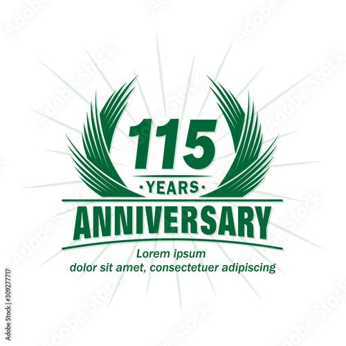 Papel de parede  115 years logo design template