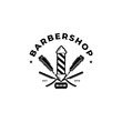 Barbershop Logo Design Vector Template