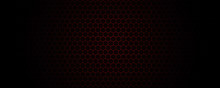 Hexagon Red Ligth Background