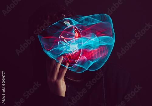 Magic esoteric led Mask Tablou Canvas