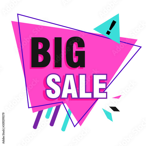 Big sale banner with exclamation mark Canvas Print
