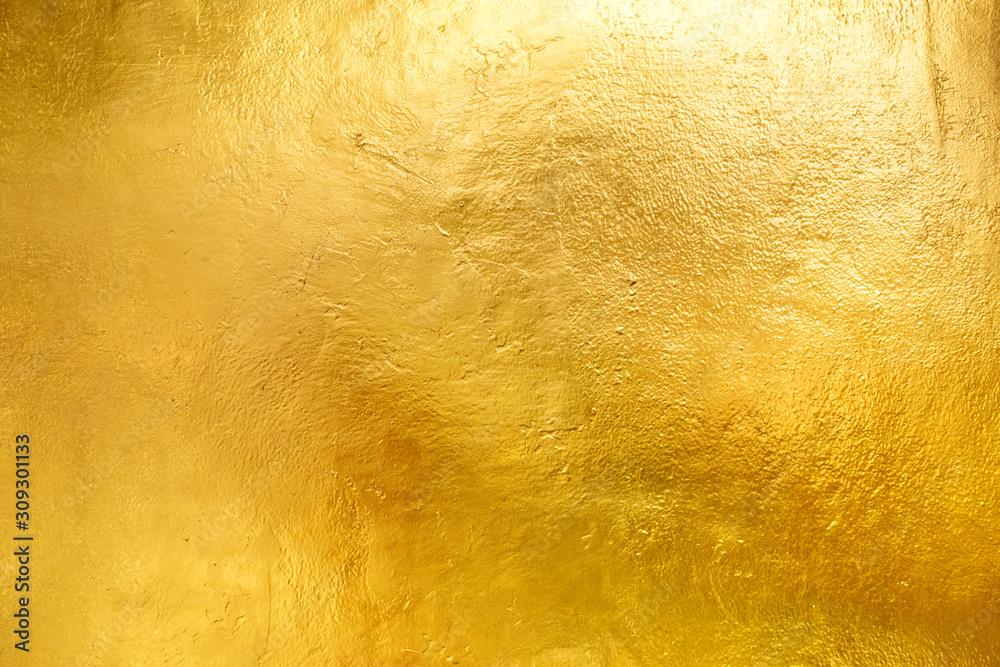 Fototapeta Gold shiny wall abstract background texture, Beatiful Luxury and Elegant