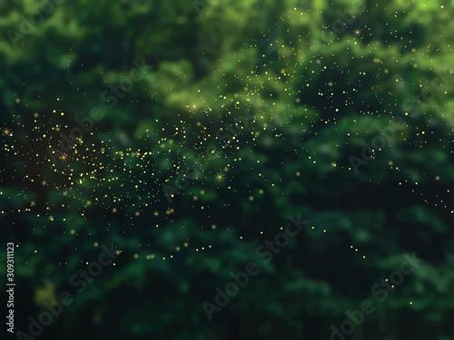 Szmaragdowa zieleń lasu liści wektor tle