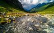 Tirol Sommer Landschaft mit Wolken Stimmung