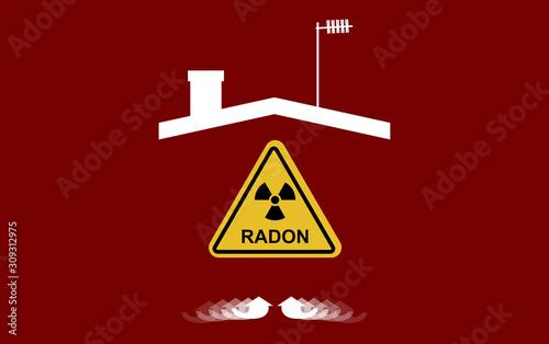 Vászonkép Radon, a contaminant that affects indoor air quality worldwide