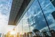 Leinwandbild Motiv Reflection of architecture on modern office building