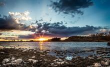 Sunset On Yellowstone River