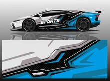 Sport Car Decal Wrap Vector De...