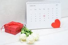 Valentine Day Calendar On The ...