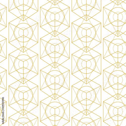 Vector sacred geometry seamless pattern Fototapete