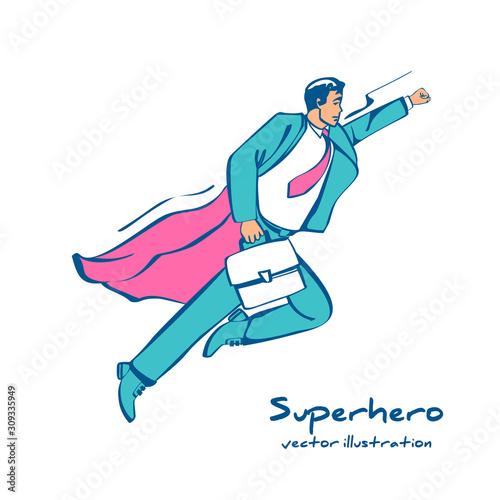 Valokuva Superhero sketch icon