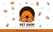 A Cute Dog Is Sleeping In A Circle. This Logo Is Great For Pet Shops, Pet Trainers, Dog Walkers, Dog Sitters, Animal Clinics.