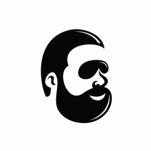 Fat Bearded Man Wearing Sungla...