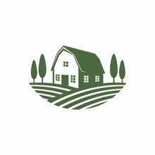 A Barn House On Farm Field