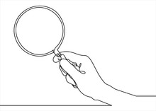 Holding Magnifying Glass Line ...