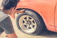 Car Breakdown And Wheel Flat T...