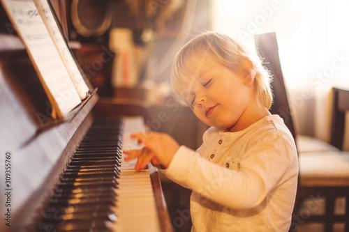 Fototapeta Focused on playing perfectly. obraz