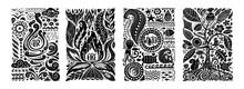 Four Elements Concept. Banners Design