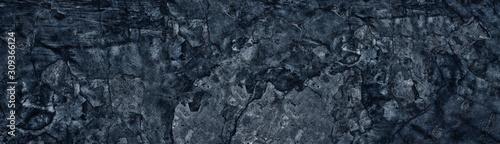 Cuadros en Lienzo Dark blue weathered broken concrete surface panoramic texture