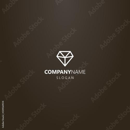white logo on a black background Canvas Print