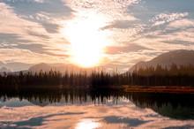 Sunrise In The Early Autumn Mo...