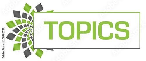 Fotografie, Obraz  Topics Green Grey Circular Bar